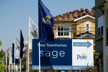 Construction At A PulteGroup Inc. Housing Development Ahead of Earnings Figures